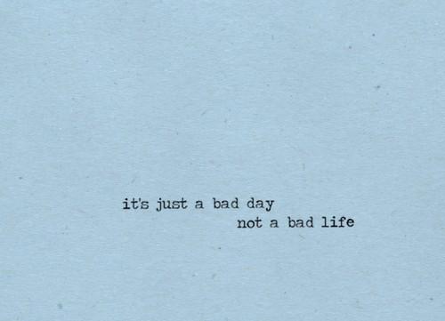 A bad week